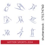 winter sports icon set. eps 8...