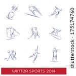 winter sports icon set. eps 8...