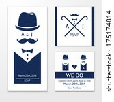 elegant invitation for same sex ...   Shutterstock .eps vector #175174814
