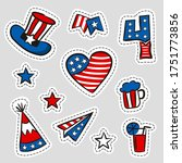 set of stickers for usa... | Shutterstock .eps vector #1751773856