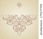 vintage ornate pattern with... | Shutterstock .eps vector #175177703