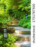 Irregular Steep Stone Steps...