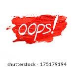 red lipstick stroke on white... | Shutterstock . vector #175179194