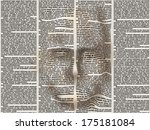 stylized human face of the... | Shutterstock .eps vector #175181084