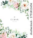 elegant floral vector card with ... | Shutterstock .eps vector #1751811656