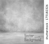 grunge interior. vector... | Shutterstock .eps vector #175182326