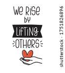 charity or volunteer quote... | Shutterstock .eps vector #1751826896