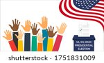presidential election in usa in ...   Shutterstock .eps vector #1751831009