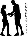black silhouettes dancing man... | Shutterstock .eps vector #1751835323