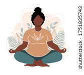 plus size african american... | Shutterstock .eps vector #1751835743