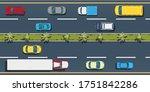 city transport top view ... | Shutterstock .eps vector #1751842286