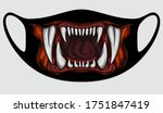 mouth with teeth for face masks.... | Shutterstock .eps vector #1751847419