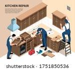 isometric apartment repair in... | Shutterstock .eps vector #1751850536