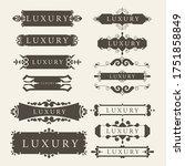 set of premium retro vintage... | Shutterstock .eps vector #1751858849