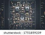 macro view of electronic... | Shutterstock . vector #1751859239