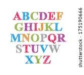 handwritten vector script ... | Shutterstock .eps vector #175190666