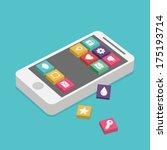 mobile app | Shutterstock .eps vector #175193714