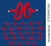 sport alphabet formed by shoe... | Shutterstock .eps vector #1751941763