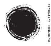 black circles grunge background ...   Shutterstock .eps vector #1751956253