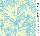 palm leaves. tropical plants... | Shutterstock .eps vector #1751961539
