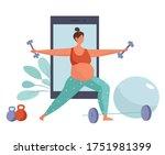character doing sports online... | Shutterstock .eps vector #1751981399