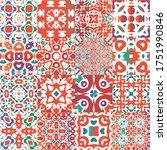 antique mexican talavera...   Shutterstock .eps vector #1751990846