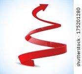 spiral arrow 3d.   Shutterstock .eps vector #175201280