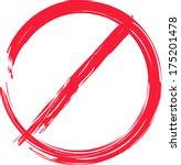 vector stop sign in brush style ... | Shutterstock .eps vector #175201478