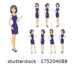 business woman character in... | Shutterstock .eps vector #175204088