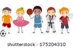 basket,ragazzo,comuni,diversi,fare,hobby,bambini,calcio,sport,bastone,giovani