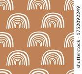 cute rainbow seamless pattern... | Shutterstock .eps vector #1752092249