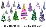 big collection of christmas...   Shutterstock .eps vector #1752108299