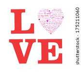 """love. a heart made of words """" i ... 