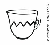Tea Cup On A White Background...