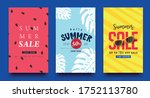 summer sale background layout... | Shutterstock .eps vector #1752113780