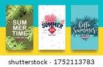 summer sale background layout...   Shutterstock .eps vector #1752113783