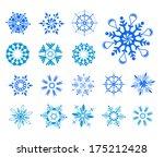 snow flakes vector set 1 | Shutterstock .eps vector #175212428