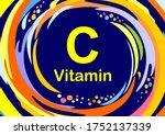 vitamin c icon. ascorbic acid... | Shutterstock .eps vector #1752137339