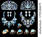 illustration of a jewelry set... | Shutterstock .eps vector #1752184679