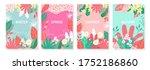 vector set floral background ... | Shutterstock .eps vector #1752186860