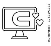 engaging content computer icon. ...   Shutterstock .eps vector #1752191333