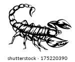 vector illustration of black... | Shutterstock .eps vector #175220390