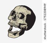 skull vintage engraving style... | Shutterstock .eps vector #1752208949