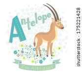 Letter A   Antelope. Alphabet...