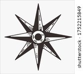 compass vector illustration in... | Shutterstock .eps vector #1752215849