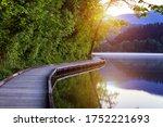 Wooden Walkway Around The Lake...