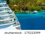 Side Of A Cruise Ship With...