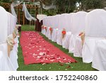 Outdoors Wedding Venue With Red ...