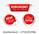 high quality sale tags vector... | Shutterstock .eps vector #1752252986