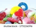 colorful candy in glass bowl... | Shutterstock . vector #175226396